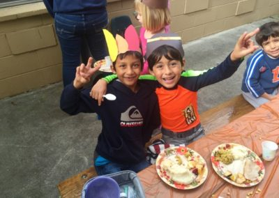 Thanksgiving at Caring Hearts Child Care in Sunnyvale