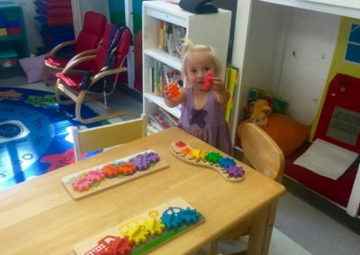 Learning Shapes at Caring Hearts Child Care in Sunnyvale